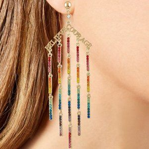 RACHEL Rachel Roy Rainbow Crystal Believe Earrings